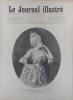 Le Journal illustré. Gravure à la Une : Mlle Sanderson dans le rôle de Manon. Gravure intérieure double page : Fêtes franco-russes à Brest.. LE ...