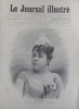Le Journal illustré. Gravure à la Une : La chanteuse Thérésa. Gravure intérieure double page : Les sinistres en mer: un sauvetage.. LE JOURNAL ...