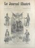 Le Journal illustré. Gravure à la Une : Les différents uniformes des écoles nationales militaires de la France. Gravure intérieure double page : La ...