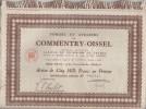 Action de cinq mille francs au porteur.. ACTION DES FORGES ET ATELIERS DE COMMENTRY-OISSEL