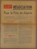 Négociation pour la paix en Algérie. Tract. Mars 1960.. P.C.F.