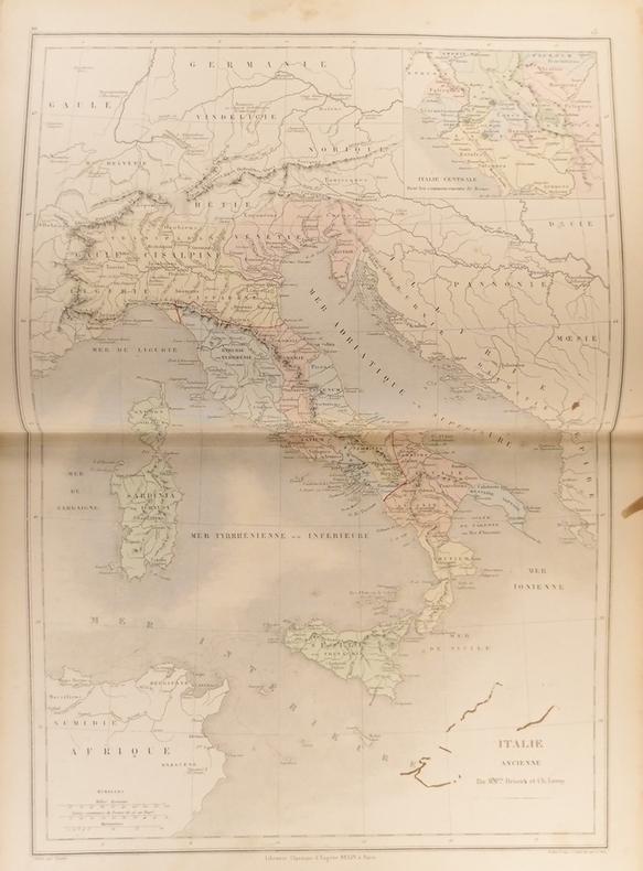 Cartes : Italie ancienne.  Italie centrale pour les commencements de Rome Carte extraite de l'Atlas universel et classique de géographie ancienne, ...