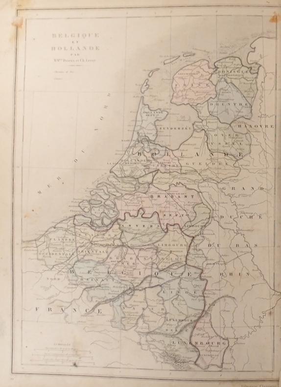 Carte de la Belgique et de la Hollande. Carte extraite de l'Atlas universel et classique de géographie ancienne, romaine, du moyen âge, moderne et ...