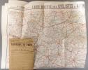 Grande carte routière. Environs de Paris, section Sud-Ouest, dans un rayon de 250 km. Nouvelle carte de France à l'usage des cyclistes et ...