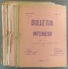 Bulletin intérieur de la Fédération Anarchiste. Nouvelle série (incomplète). Numéros 1 à 5 plus 7, puis 3e année numéros 1 à 3 plus 5, puis 4e année ...