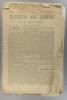 Bulletin des armées de la République N° 33. Incomplet. Réservé à la zone des armées. Contient le tableau d'honneur, citations à l'ordre de l'armée.. ...