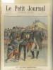 Le Petit journal - Supplément illustré N° 411 : Aux grandes manoeuvres. Le Duc de Connaught essayant un sac de soldat. (Gravure en première page). ...