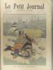 Le Petit journal - Supplément illustré N° 497 : Un grave accident. (Gravure en première page). Gravure en dernière page : Factionnaire matador. ...