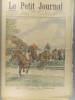 Le Petit journal - Supplément illustré N° 655 : Les courses de Steeple. (Gravure en première page). Gravure en dernière page: Terrible accident ...