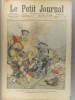 Le Petit journal - Supplément illustré N° 704 : Roissy-en-Brie, automobile broyée par un train (Gravure en première page). Gravure en dernière page: ...