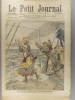 Le Petit journal - Supplément illustré N° 837 : Drame à bord d'un transatlantique (Gravure en première page). Gravure en dernière page : Bateau de ...