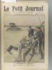Le Petit journal - Supplément illustré N° 1099 : La catastrophe (ferroviaire) du Vaudelenay (Maine et Loire). Descente des scaphandriers à la ...
