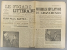 Le Figaro littéraire N° 85. Jean-Paul Sartre, ou un auteur scandaleux, par Maurice Merleau-Ponty. - Nouvelles révélations de Kravchenko…. LE FIGARO ...