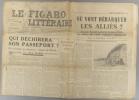 Le Figaro littéraire N° 138. Jean Cayrol - Lidell Hart - J. et J. Tharaud - Paul Guth…. LE FIGARO LITTERAIRE