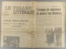 Le Figaro littéraire N° 141. Claudel sur Romain Rolland - L'examen de conscience du général von Blomberg…. LE FIGARO LITTERAIRE