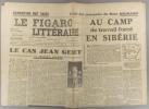 Le Figaro littéraire N° 153. Le cas Jean Genet, par François Mauriac. - Suite des souvenirs de Mme Neumann…. LE FIGARO LITTERAIRE