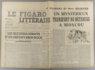 Le Figaro littéraire N° 155. Pierre Gaxotte - Paul Guth. - Suite des souvenirs de Mme Neumann…. LE FIGARO LITTERAIRE