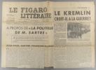 Le Figaro littéraire N° 159. Mauriac sur Sartre - Yvonne Sarcey - Le Kremlin croit-il à la guerre?.... LE FIGARO LITTERAIRE