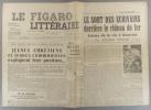 Le Figaro littéraire N° 169. Jeunes chrétiens et jeunes communistes -Les écrivains derrière le rideau de fer…. LE FIGARO LITTERAIRE