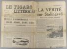 Le Figaro littéraire N° 178. Petites promenades dans Rome, sans guide, par Henri Calet -La vérité sur Stalingrad…. LE FIGARO LITTERAIRE