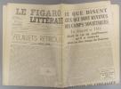 Le Figaro littéraire N° 188. André Gide - Camps soviétiques…. LE FIGARO LITTERAIRE