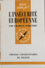 L'insécurité européenne.. ZORGBIBE Charles