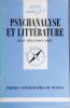 Psychanalyse et littérature.. BELLEMIN-NOËL Jean