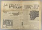 Le Figaro littéraire N° 84. Léon-Paul Fargue par Paul Claudel. - Comment la Suisse échappa à Hitler par Bernard Barbey…. LE FIGARO LITTERAIRE