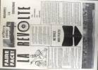 Faire face! La Révolte. Rouvrez la Sorbonne. Tract imprimé. 22 x 32 cm. Recto-verso.. TRACT DE MAI 1968
