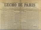 L'écho de Paris. N° 11051 du 17 novembre 1914.. L'ECHO DE PARIS