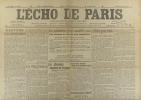 L'écho de Paris. N° 11059 du 26 novembre 1914.. L'ECHO DE PARIS