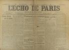 L'écho de Paris. N° 11006 du 11 janvier 1915.. L'ECHO DE PARIS