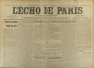 L'écho de Paris. N° 11244 du 29 mai 1915.. L'ECHO DE PARIS