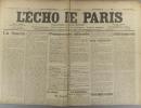 L'écho de Paris. N° 11270 du 24 mai 1915.. L'ECHO DE PARIS