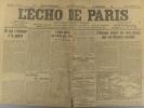 L'écho de Paris. N° 11430 du 2 décembre 1915.. L'ECHO DE PARIS