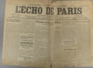 L'écho de Paris. N° 11484 du 25 janvier 1916.. L'ECHO DE PARIS Dessin d'Abel Faivre à la une.