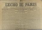 L'écho de Paris. N° 11550 du 31 mars 1916.. L'ECHO DE PARIS