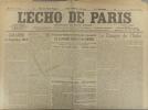 L'écho de Paris. N° 11612 du 1er juin 1916.. L'ECHO DE PARIS