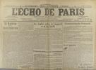 L'écho de Paris. N° 11670 du 29 juillet 1916.. L'ECHO DE PARIS Dessin d'Abel Faivre à la une.