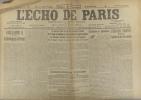 L'écho de Paris. N° 11702 du 30 août 1916.. L'ECHO DE PARIS Dessin d'Abel Faivre à la une.