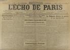 L'écho de Paris. N° 11706 du 3 septembre 1916.. L'ECHO DE PARIS