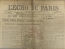 L'écho de Paris. N° 11730 du 27 septembre 1916. Victoire anglo-française.. L'ECHO DE PARIS