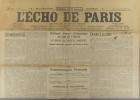 L'écho de Paris. N° 11783 du 19 novembre 1916.. L'ECHO DE PARIS