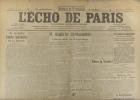 L'écho de Paris. N° 11800 du 6 décembre 1916.. L'ECHO DE PARIS