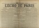 L'écho de Paris. N° 11803 du 9 décembre 1916.. L'ECHO DE PARIS Dessin d'Abel Faivre à la une.