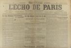 L'écho de Paris. N° 11900 du 16 mars 1917.. L'ECHO DE PARIS