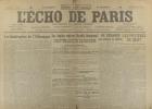 L'écho de Paris. N° 11914 du 30 mars 1917.. L'ECHO DE PARIS