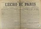 L'écho de Paris. N° 12148 du 18 novembre 1917.. L'ECHO DE PARIS