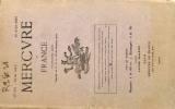 Mercure de France N° 452. Bienstock, Rouveyre, Fagus, L'argot militaire pendant la guerre par Albert Dauzat.... MERCURE DE FRANCE