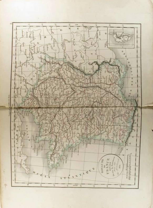 Royaume de France divisé en ses 32 provinces avant 1790. (Carte dressée en 1834).. DELAMARCHE Félix